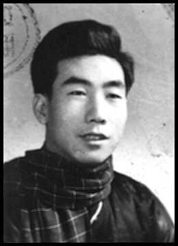 mestre Wang Tie Cheng na juventude